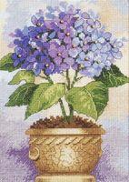 "Вышивка ""Гортензия в цвету"" (арт. DMS-06959)"