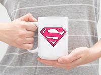 """Кружка большая белая """"Supergirl"""" (арт. 613)"""