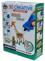 "3D ручка детская ""Rich Fish Toys"" (зелёная+красная+оранжевая)"