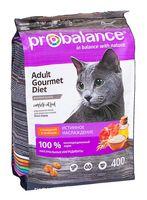 """Корм сухой для кошек """"Gourmet Diet"""" (400 г; с говядиной и ягненком)"""
