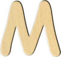 "Заготовка деревянная ""Русский алфавит. Буква М"" (75х70 мм)"