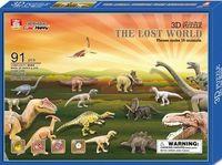 """Сборная модель из бумаги """"Мир динозавров"""""""