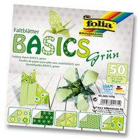 Бумага зеленая для оригами (150х150 мм; 50 листов)