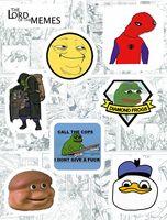 """Набор глянцевых наклеек №122 """"Memes"""""""