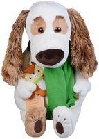 """Мягкая игрушка """"Бартоломей в шарфе и с оленем"""" (27 см)"""