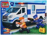 """Конструктор """"Полиция. Газель: полицейская машина"""" (84 детали)"""