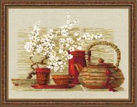 "Вышивка крестом ""Чай"" (300х240 мм)"