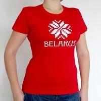 """Футболка женская """"Belarus"""" (M; красная)"""