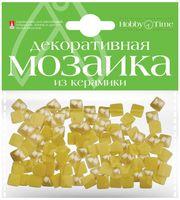 Мозаика декоративная из керамики №18 (8х8 мм; 100 шт.; желтый)