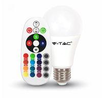 Светодиодная лампа RGB с пультом V-TAC VT-2022 6 ВТ, А60, Е27, 3000К