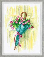 """Вышивка крестом """"Цветочное послание"""" (210х310 мм)"""