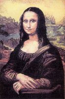 "Вышивка крестом ""Мона Лиза"" (325x475 мм)"