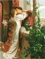 """Канва с нанесенным рисунком """"Ромео и Джульетта"""""""