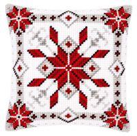 """Вышивка крестом """"Подушка. Снежинка"""" (400х400 мм; арт. 0146119-PN)"""