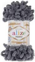 """Пряжа """"ALIZE. Puffy №87"""" (100 г; 9,2 м; темно-серый)"""