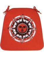 "Подушка на стул ""Стороны Света"" (41х26 см; оранжевая)"