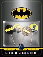"""Набор свечей для торта """"Batman"""" (4 шт.)"""