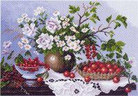 """Канва с нанесенным рисунком """"Натюрморт с ягодами"""""""