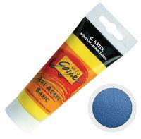 """Краска акриловая матовая """"Solo Goya Basic"""" 55 (100 мл; синий сапфировый; перламутровый эффект)"""
