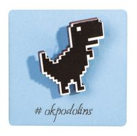 "Значок-пин ""Динозавр EROR"" (арт. 681)"