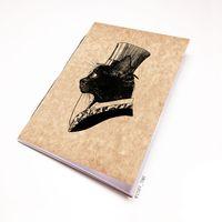 """Блокнот крафт """"Кот джентльмен"""" (А5; арт. 795)"""