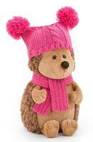 "Мягкая игрушка ""Ежинка Колючка в шапке с двумя помпонами"" (26 см)"