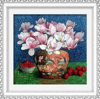 """Алмазная вышивка-мозаика """"Магнолии"""" (500x480 мм)"""