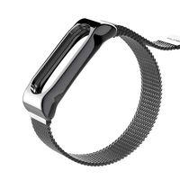 Металлический ремешок для Xiaomi Mi Band 2 Magnetic (черный)