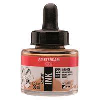 """Акриловые чернила """"Amsterdam Ink"""" (30 мл; бронзовые)"""
