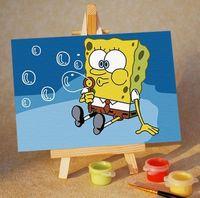 """Картина по номерам """"Спанч Боб. Мыльные пузыри"""" (100x150 мм; арт. MA035)"""