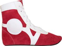 Обувь для самбо SM-0101 (р.35; замша; красная)