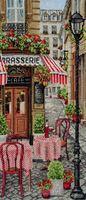 """Вышивка крестом """"Французский городок"""" (320х140 мм)"""