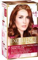 """Крем-краска для волос """"Excellence"""" (тон: 6.46, медный темно-русый)"""