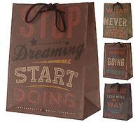 Пакет бумажный подарочный (в ассортименте; 21х11х27 см; арт. C37777000)