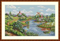 """Вышивка крестом """"Весенний пейзаж"""" (200х330 мм)"""