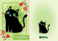 """Набор для изготовления электронной открытки """"Чёрный Кот"""""""