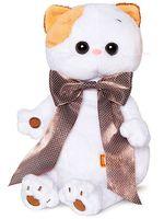 """Мягкая игрушка """"Кошечка Ли-Ли с с атласным коричневым бантом"""" (24 см)"""