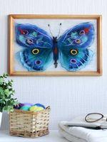 """Картина из шерсти """"Бабочка Артемида"""" (200х300 мм)"""