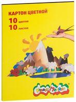 """Картон цветной А4 """"Каляка-Маляка"""" (10 листов, 10 цветов)"""