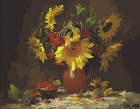 """Картина по номерам """"Осенний букет с ягодами"""" (400х500 мм)"""