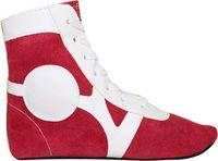 Обувь для самбо SM-0101 (р.38; замша; красная)