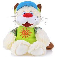 """Мягкая интерактивная игрушка """"Кот усатый путешественник"""" (25 см)"""