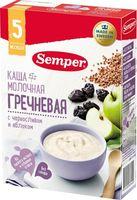 """Детская каша Semper """"Молочная гречневая с черносливом и яблоком"""" (200 г)"""