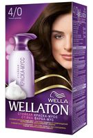 "Краска-мусс для волос ""Wellaton"" (тон: 4/0, темный шоколад)"