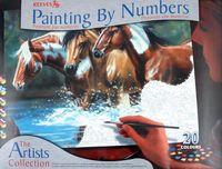 """Картина по номерам """"Лошади у воды"""""""