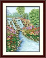 """Алмазная вышивка-мозаика """"Водопад"""" (450х630 мм)"""