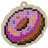 """Алмазная вышивка-мозаика """"Брелок. Пончик"""" (66х55 мм)"""