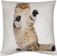 """Подушка """"Вредный кот"""" (35x35 см; белая)"""