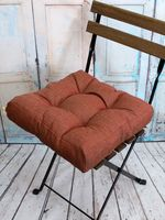 "Подушка на стул ""Outlet"" (40х40 см; бронзовый меланж)"