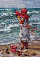 "Вышивка крестом ""Девочка на берегу"" (арт. DMS-65078)"